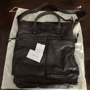 Balenciaga Leather Messenger Handbag